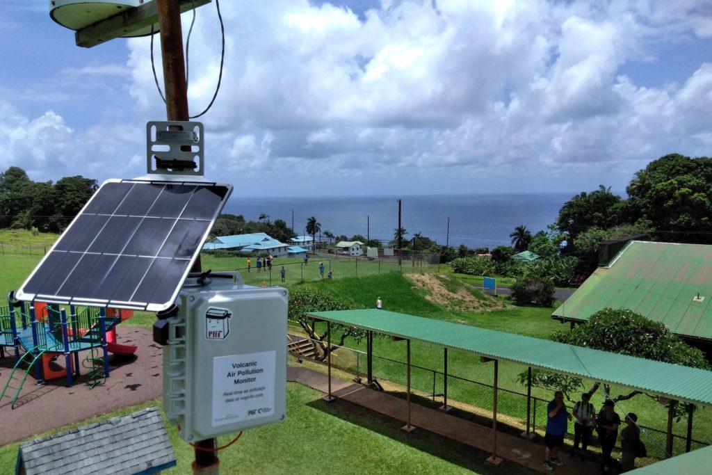 The Tata Center Air Quality Sensor deployed to measure Hawai'i vog levels.