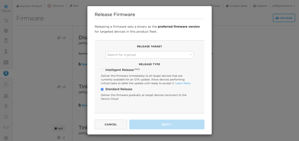 Intelligent OTA firmware release